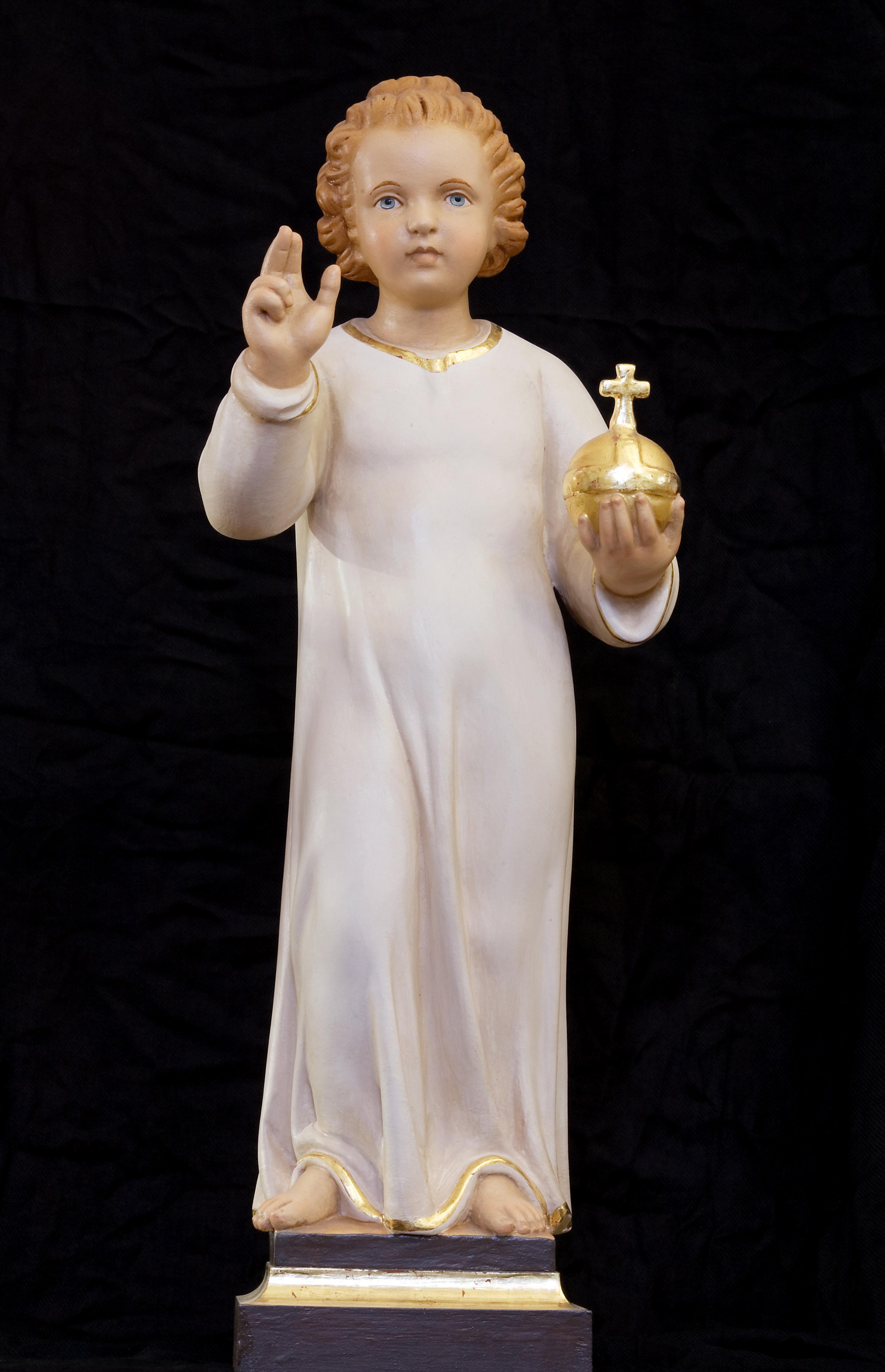A Prágai Kis Jézus szobra (fotó: Wikipedia)
