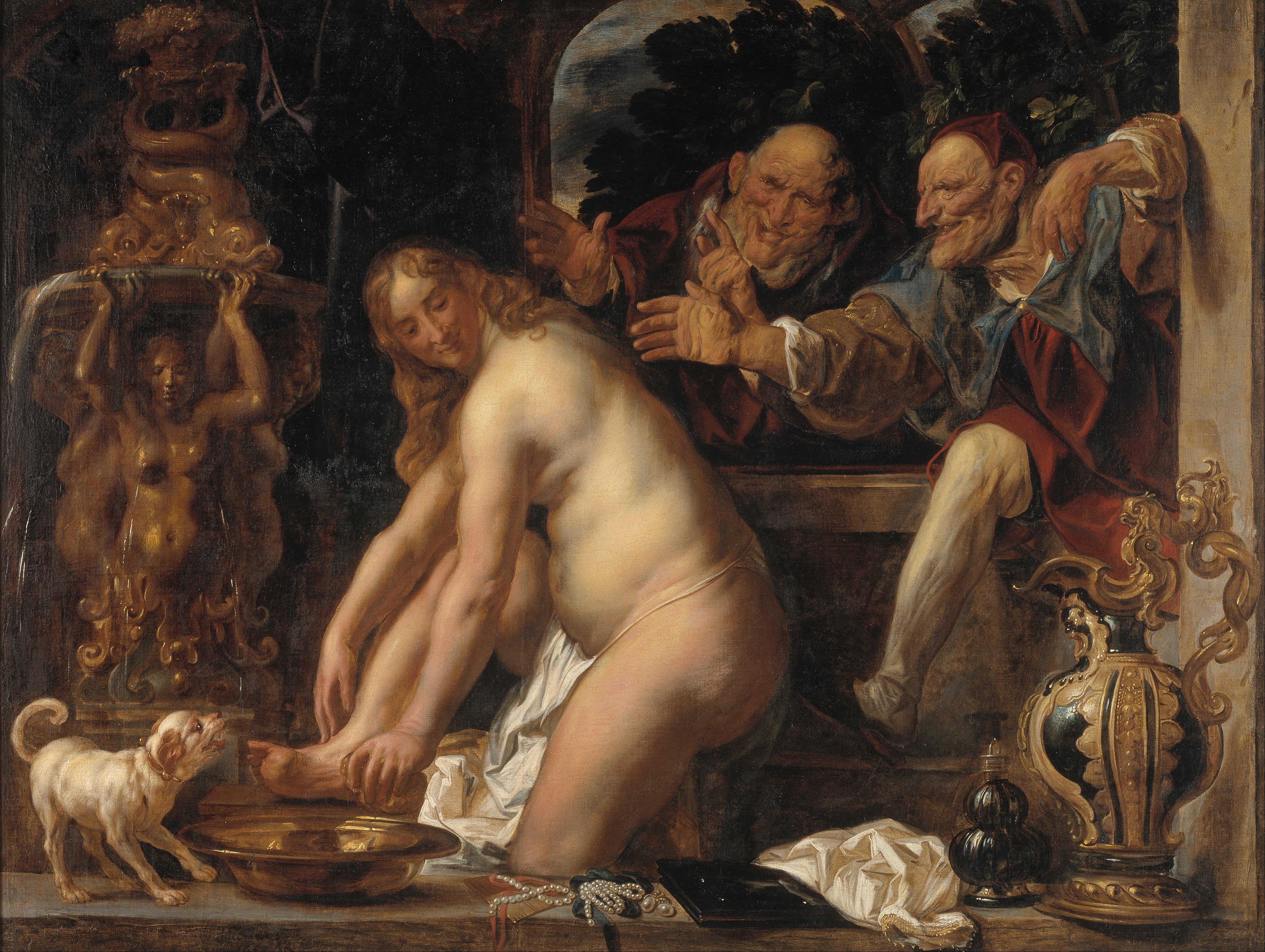Jacob Jordaens: Zsuzsanna és a vének (forrás: Wikipedia)