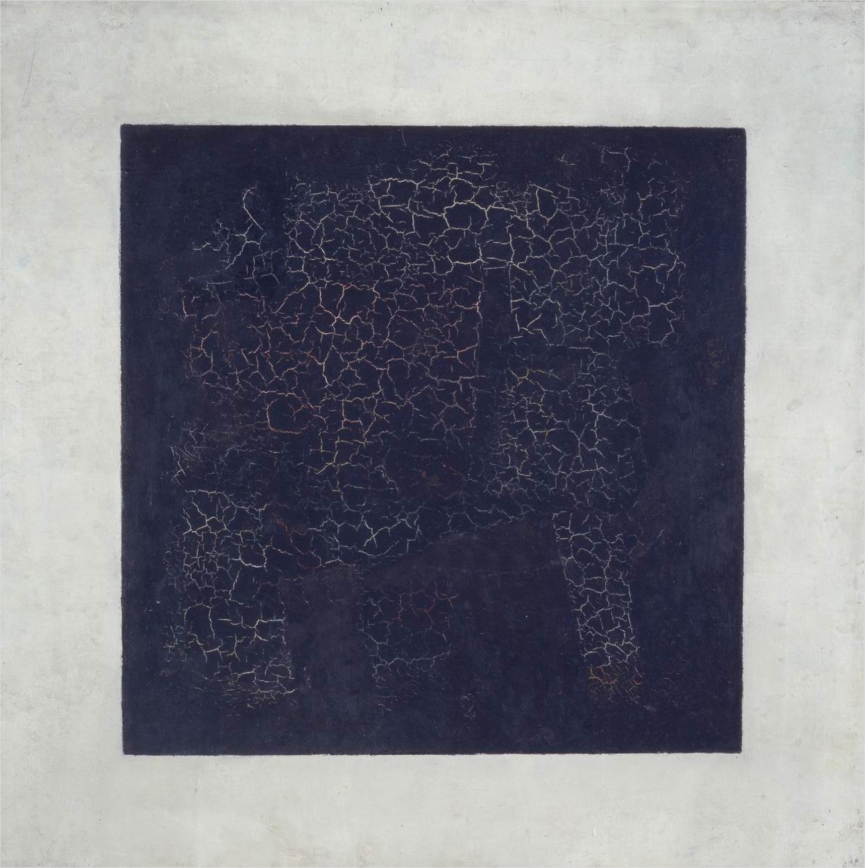 Kazimir Malevics: Fehér alapon fekete négyzet (forrás: Wikipedia)
