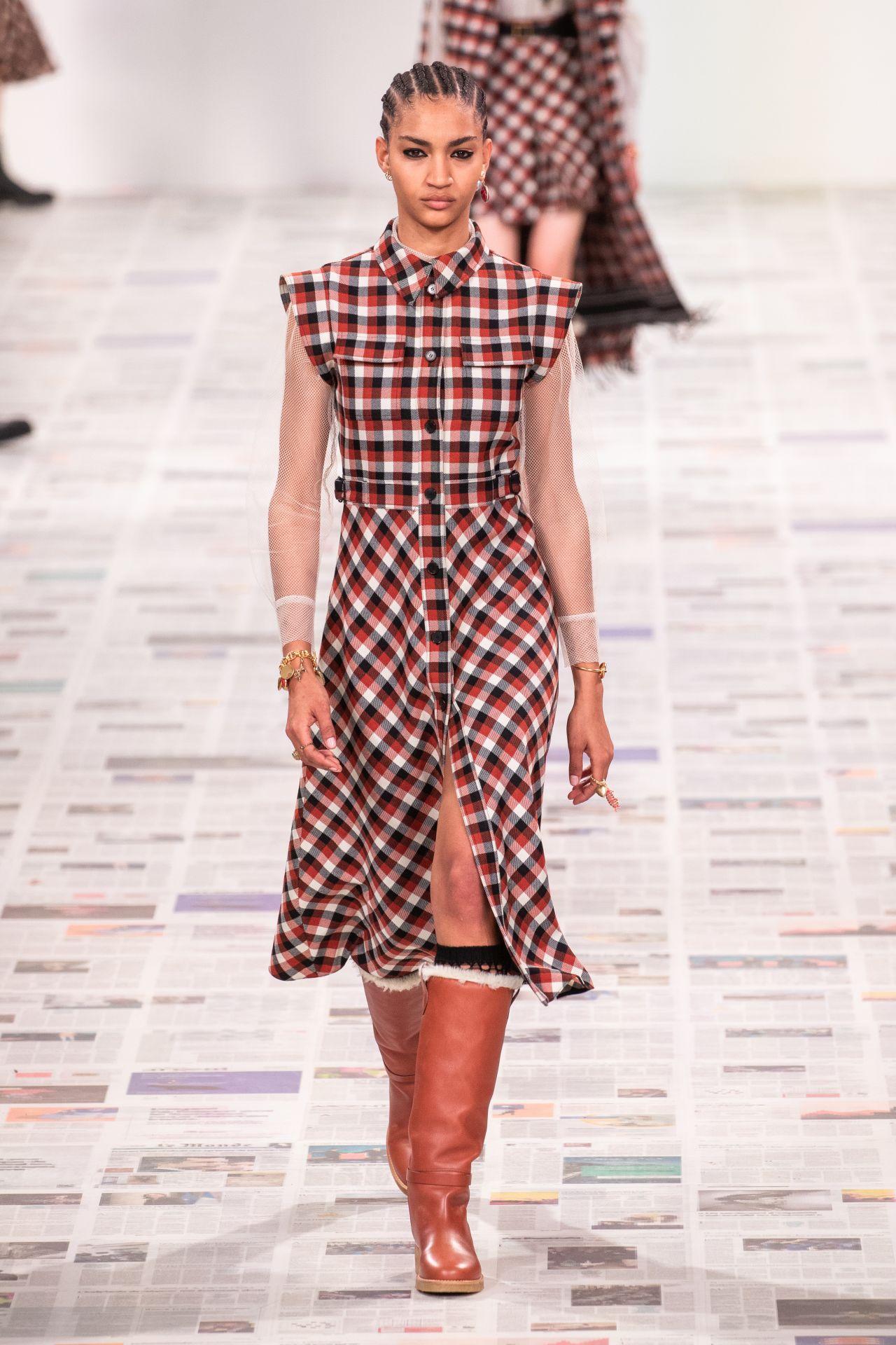 Dior kockás ruha