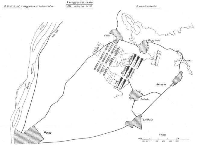 Mogyoródi csata térkép