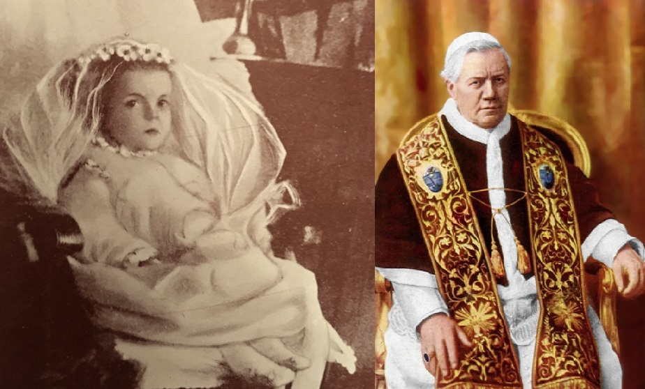 Ellen Organ és X. Piusz pápa (fotó: Wikipedia)