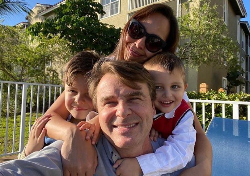 Juan Pablo Gamboa és családja