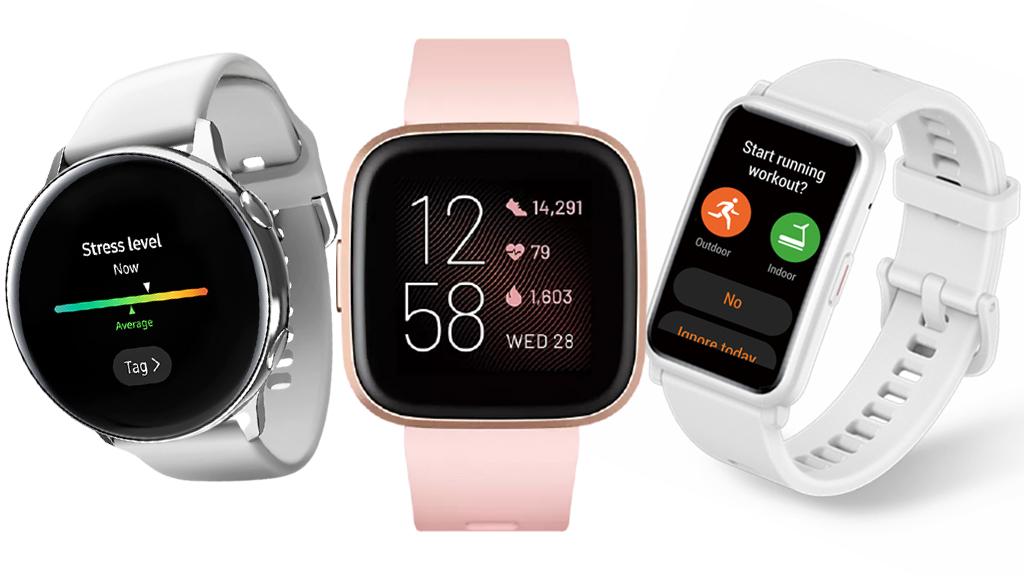 Okosórák: 1. SAMSUNG Galaxy Watch Active okosóra , 2. FITBIT Versa 2 okosóra , 3. Honor Watch ES okosóra