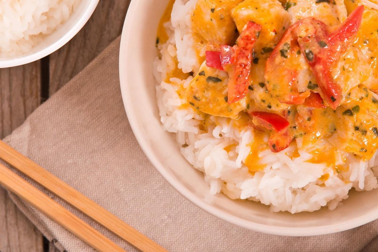 A tökéletes thai curryhez jázmin rizs dukál. (Fotó: Profimedia)