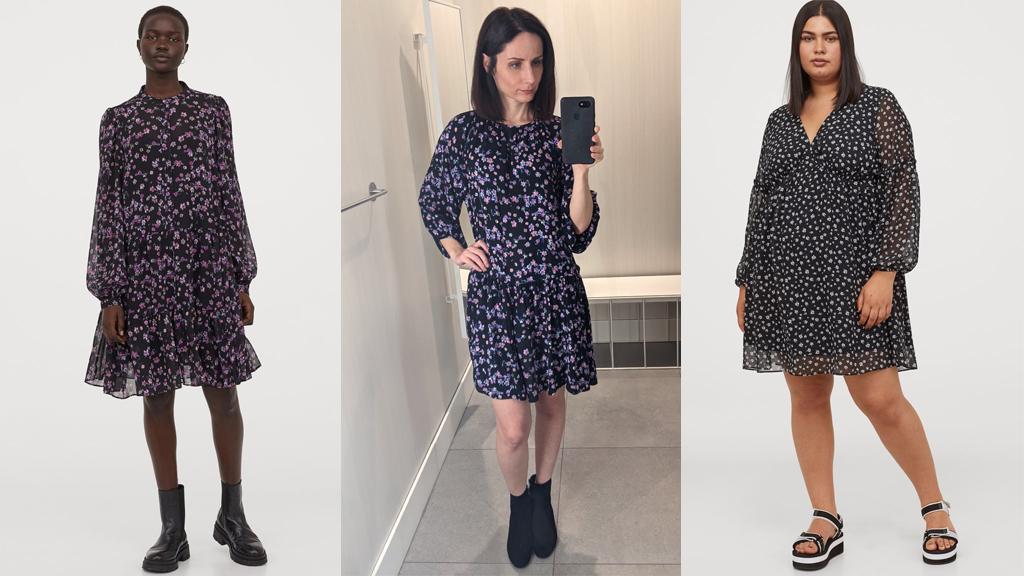 Puffos ujjú ruhák fordítot t háromszög és alma alkatra - H&M