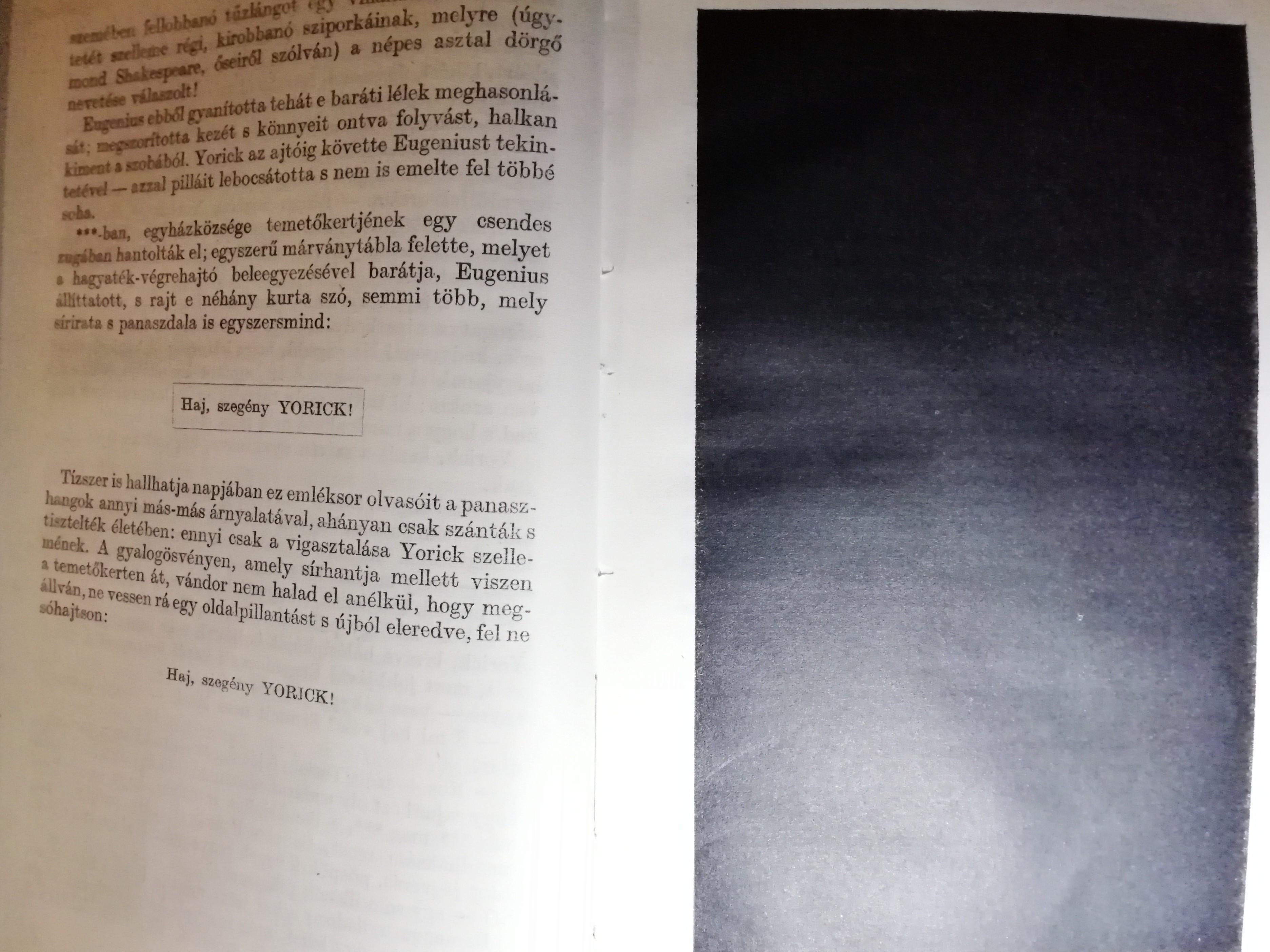 A fekete oldal a könyv magyar kiadásában (fotó: szszcs)