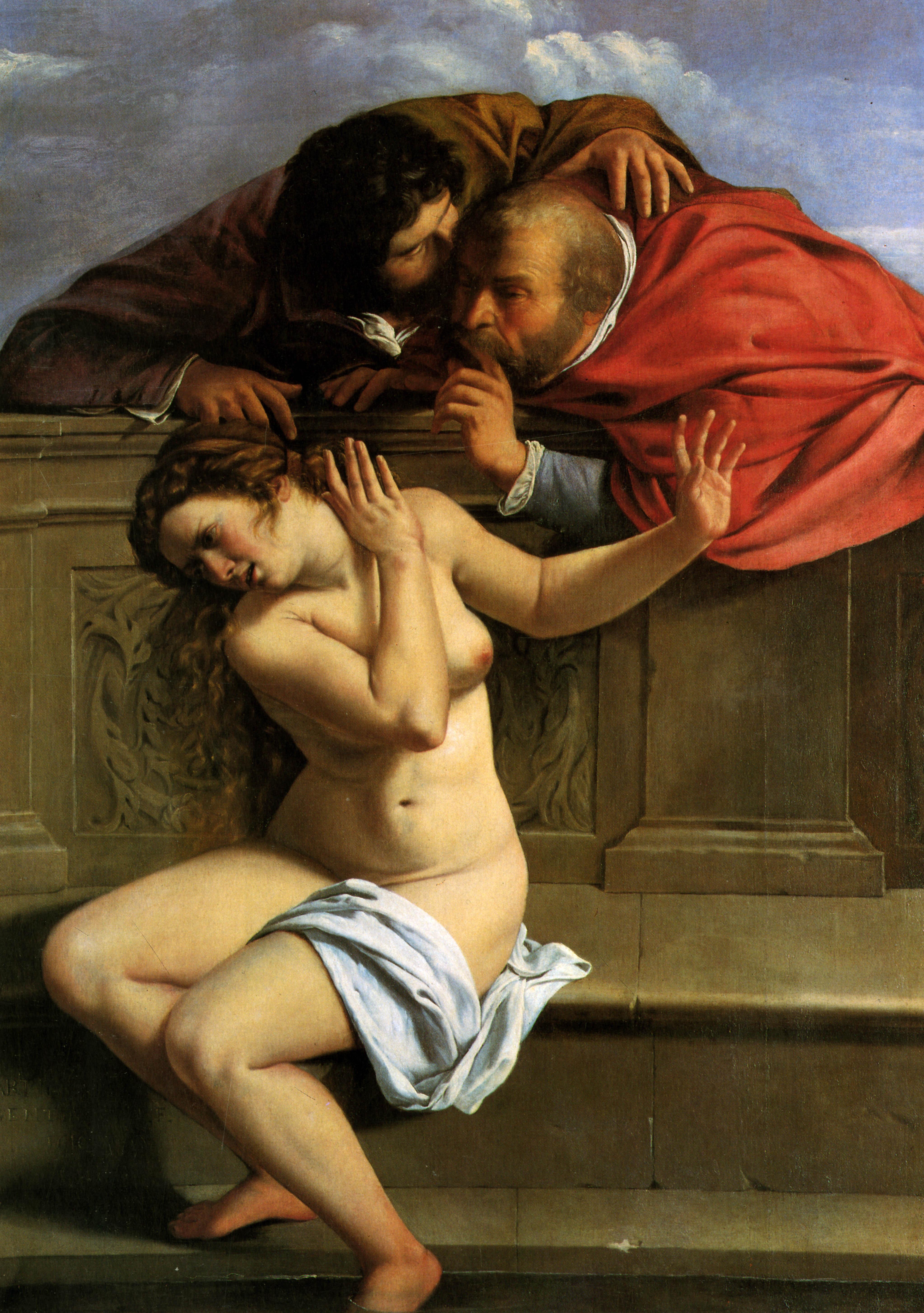 Artemisia Gentileschi: Zsuzsanna és a vének (forrás: Wikipedia)