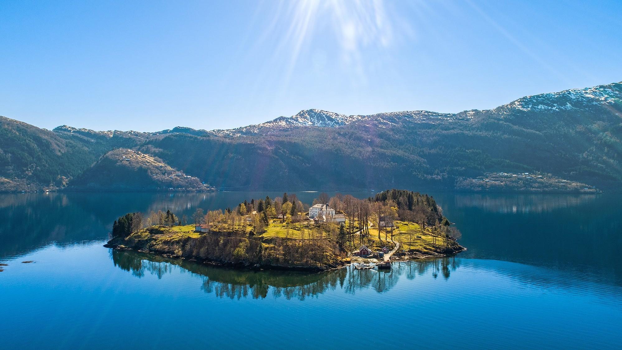 Alig egymilliárdért eladó egy egész sziget Norvégiában.