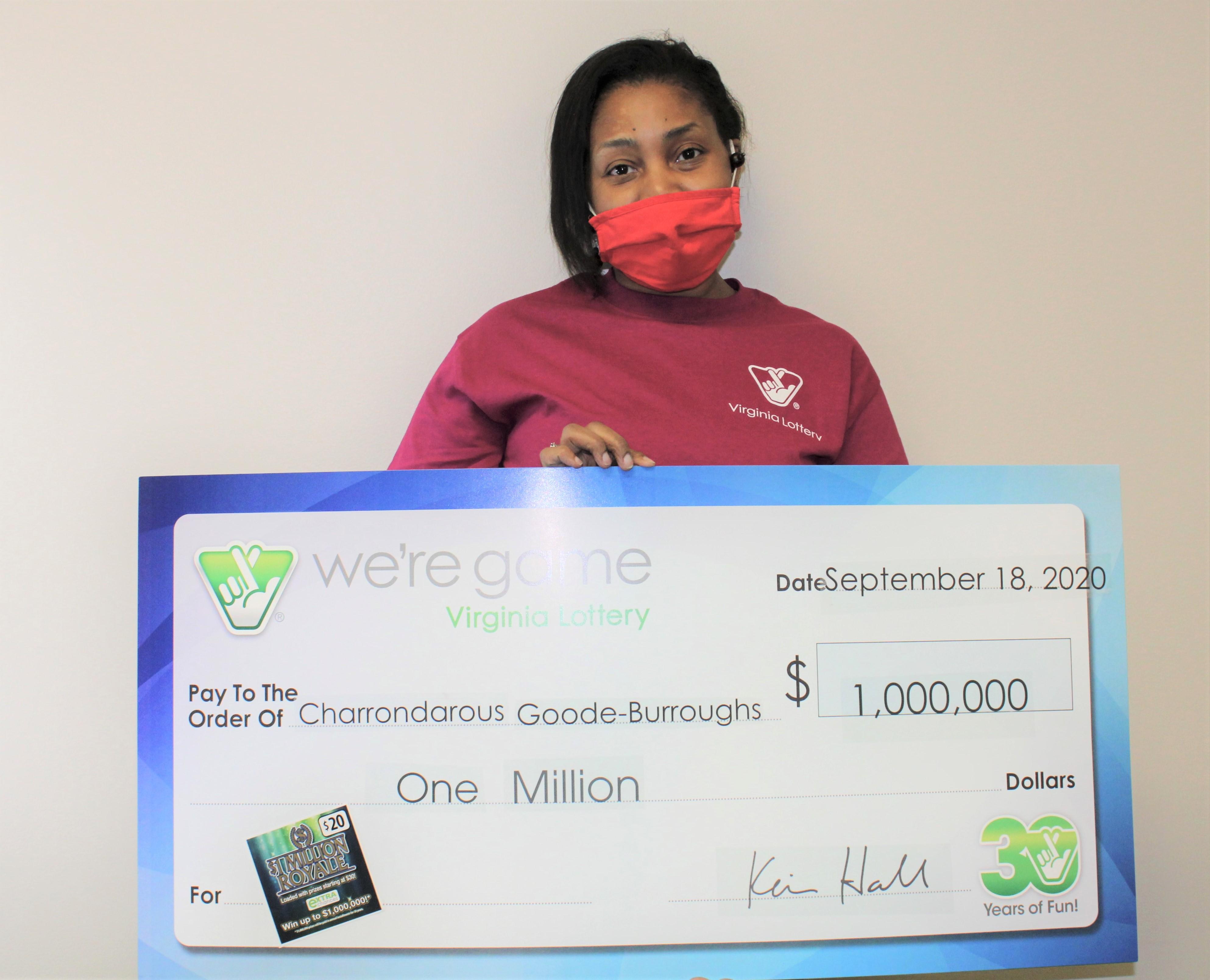 Charrondarous Goode-Burroughs még nem tudja, mire költi a nyereményt / Fotó: Virginia Lottery / www.valottery.com