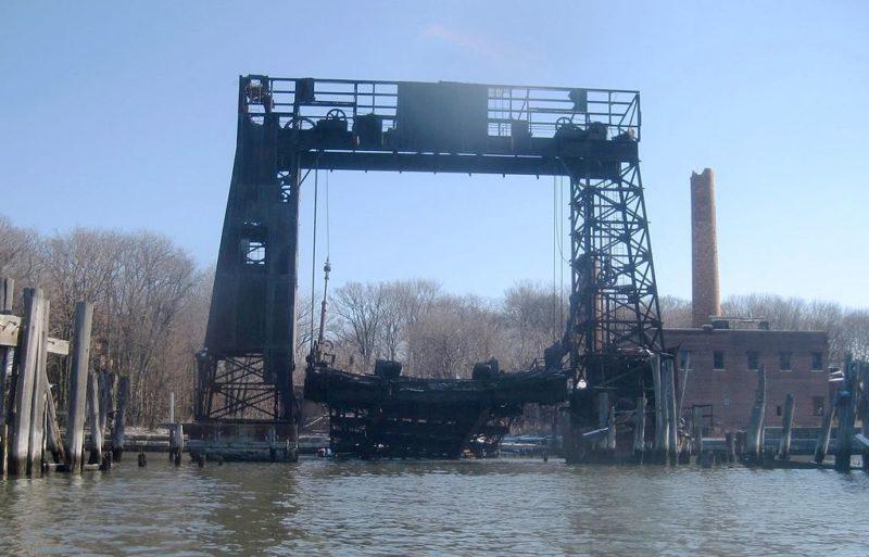 Az egykori kompkikötő