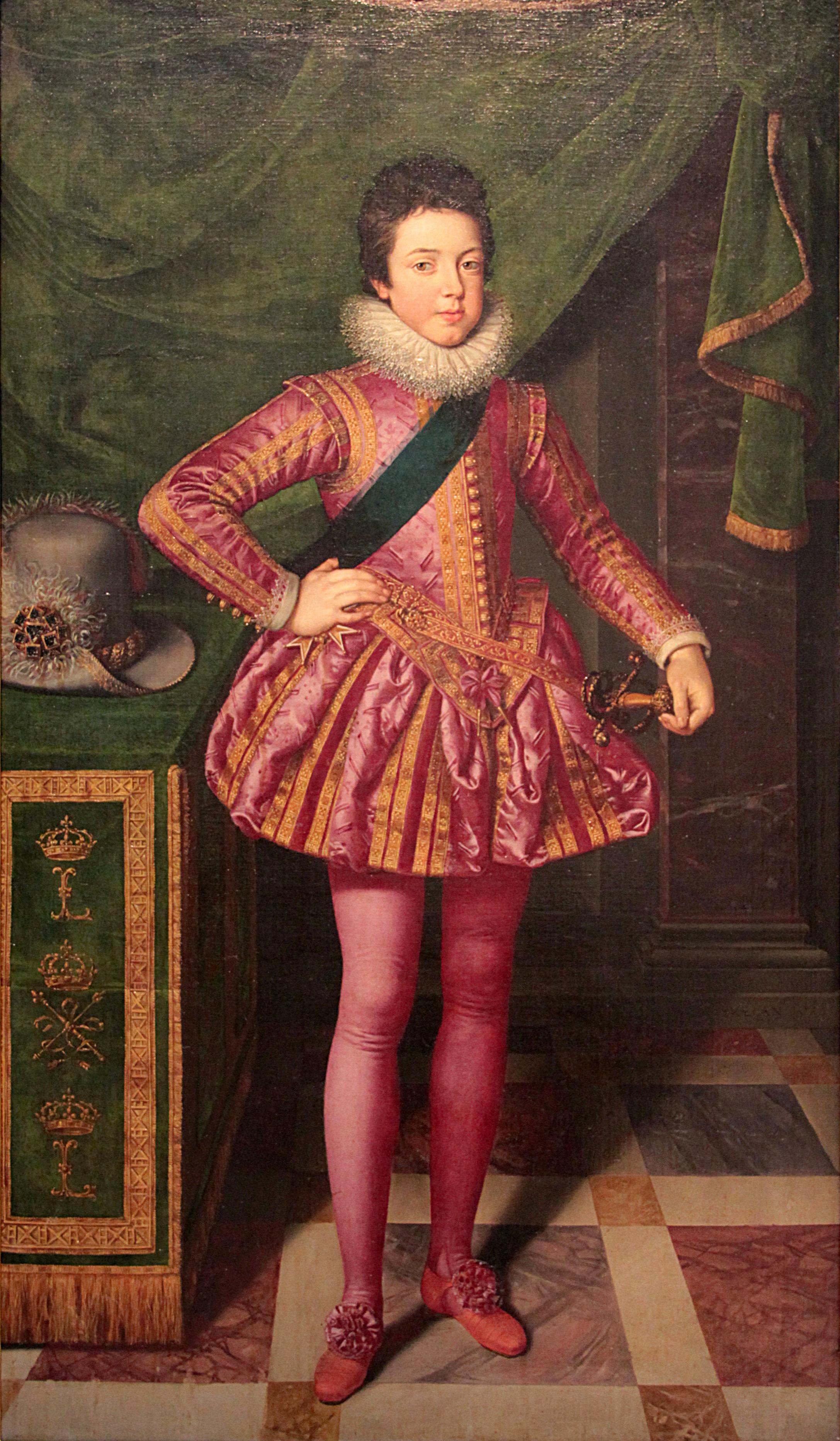A gyermek XIII. Lajos portréja (forrás: Wikipedia)