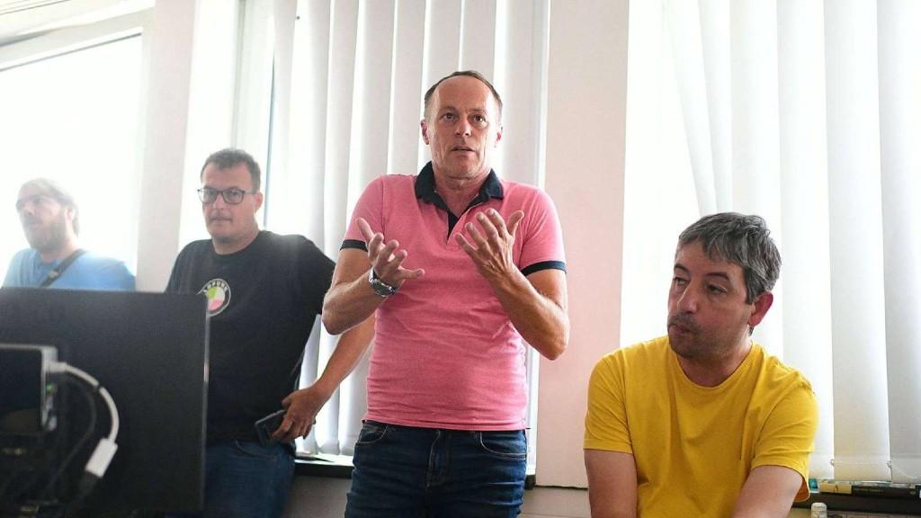Szombathy Pál a régi Indexesek utolsó gyűlésén (fotó: Bődey János)