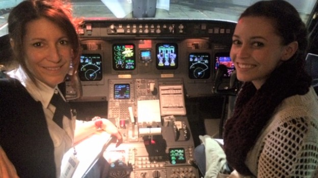 A Garrett pilótacsalád két női tagja (fotó: blog.skywest.com)