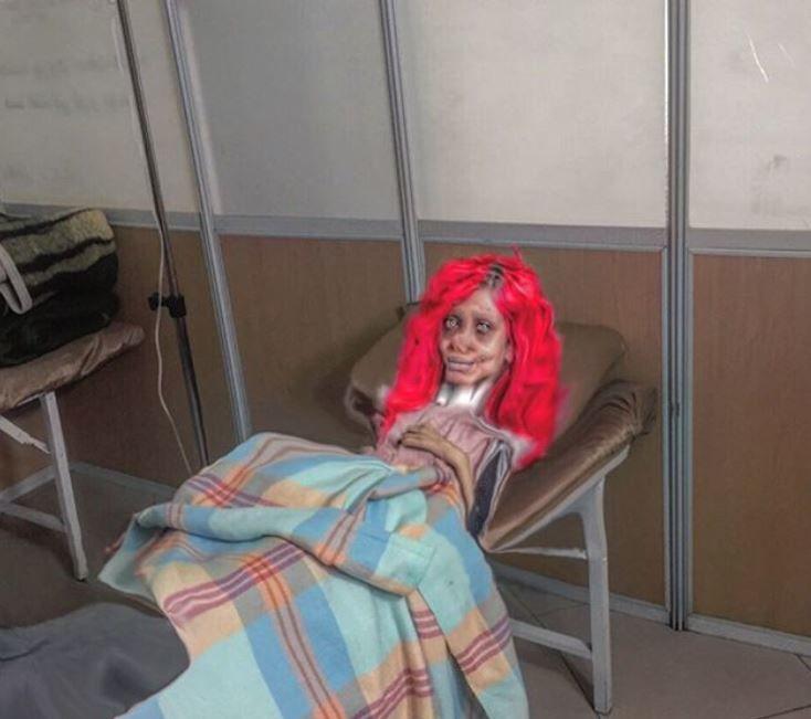 Sahar Tabar a kórházban