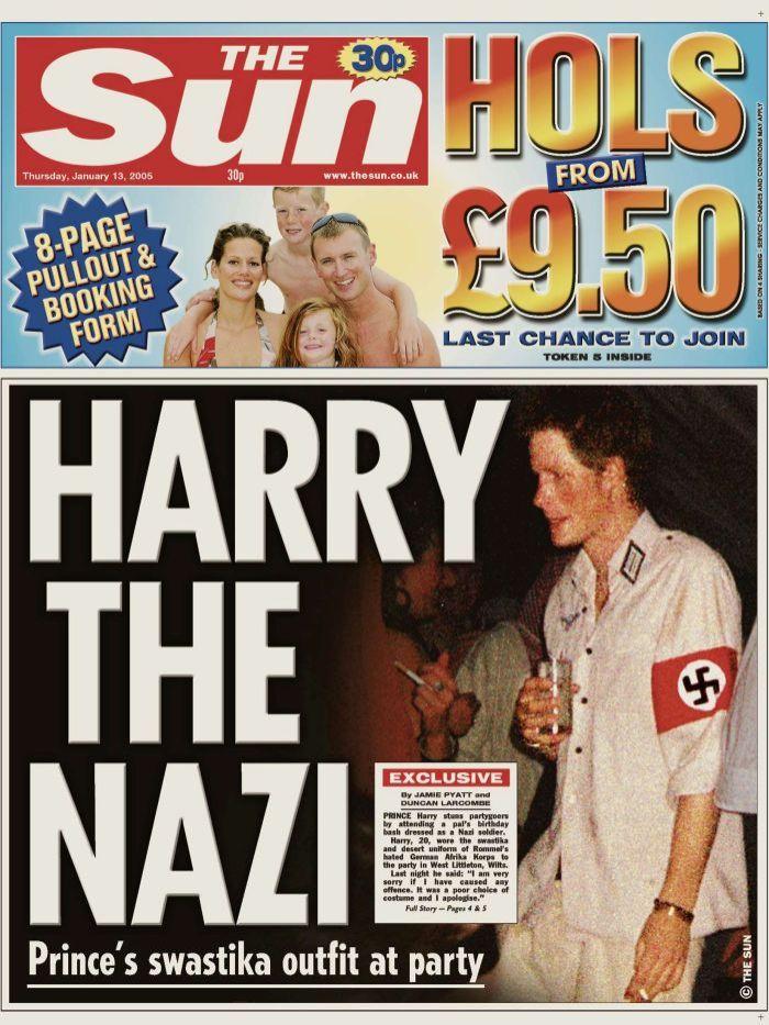 Harry herceg The Sun náci egyenruha