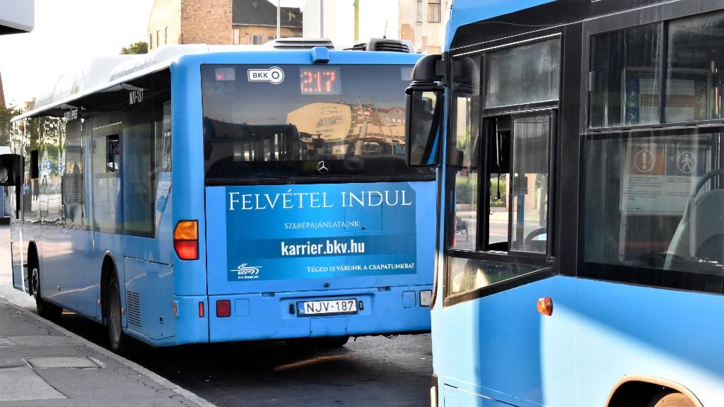 Félnek a buszsofőrök (fotó: MTVA/Bizományosi: Róka László)
