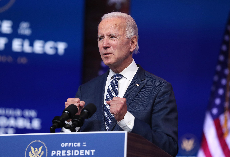 Joe Biden, az Egyesült Államok leendő elnöke (fotó: Joe Raedle/Getty Images)