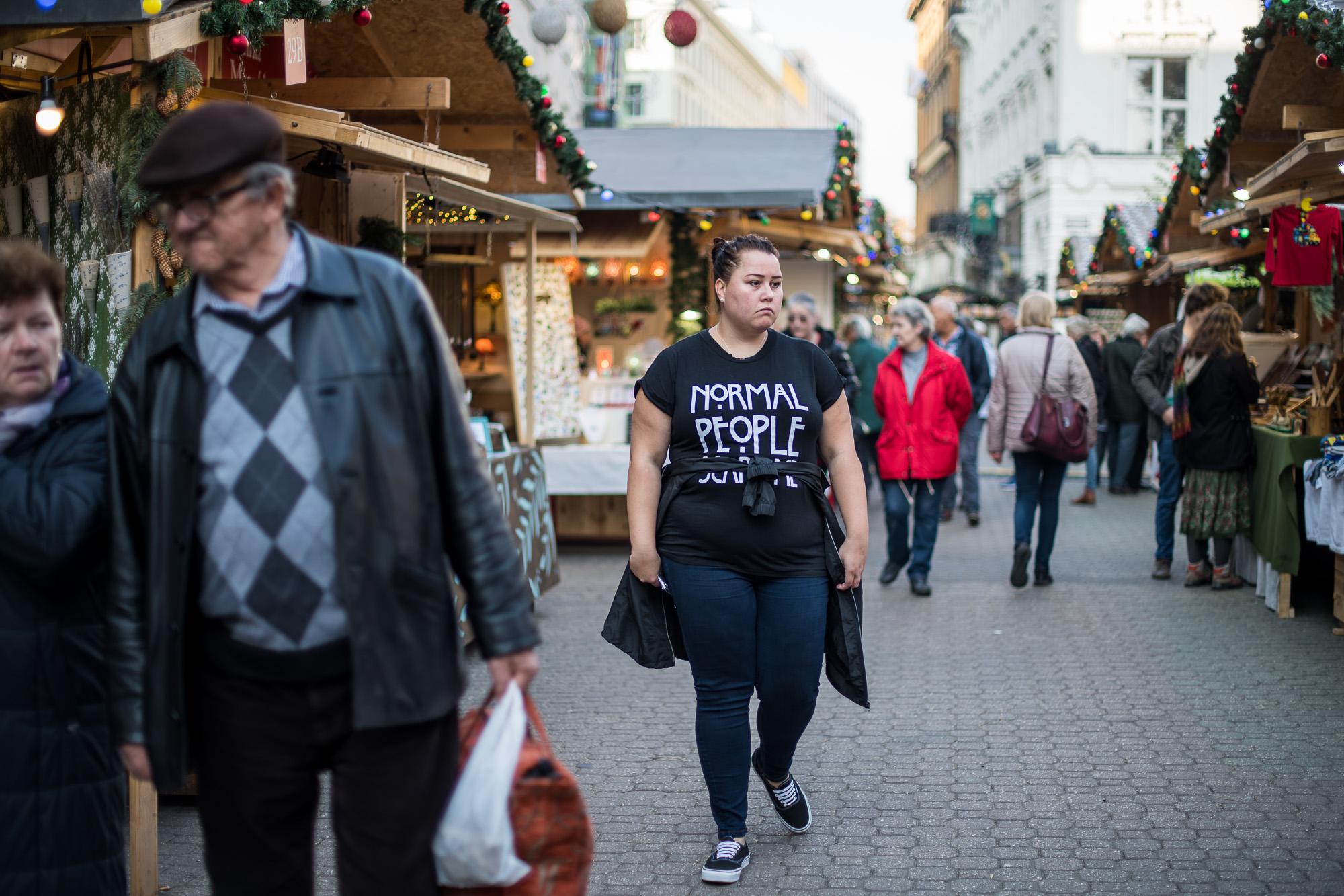Karácsonyi vásár 2018-ban, 16 fokban. Fotó: Neményi Márton