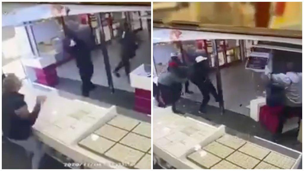 Brutális videó: szembeszállt a rablókkal a veszprémi ékszerbolt eladója