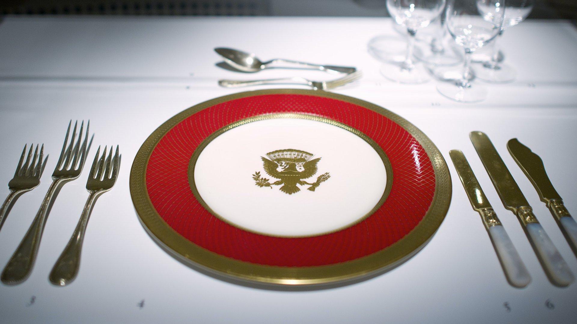 Elnöki étkészlet Ronald Reagen hivatali idejében