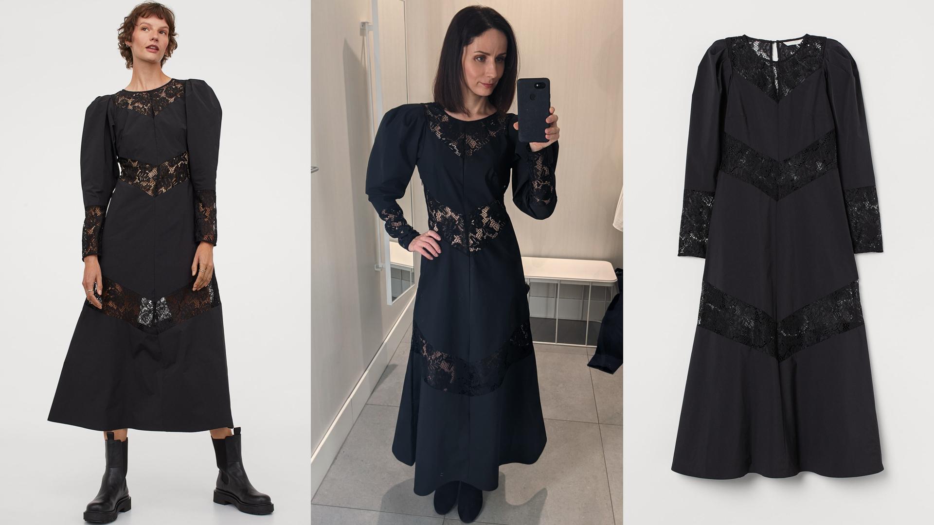 fekete csipkés ruha