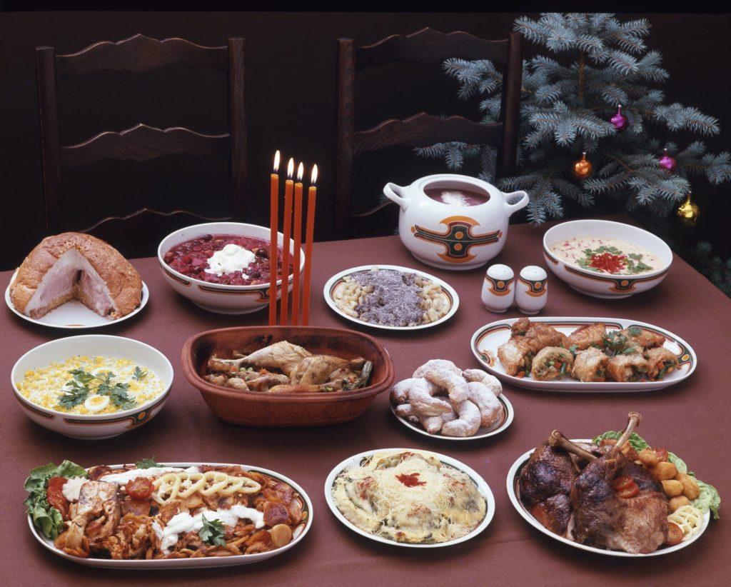 Retró karácsonyi ételek