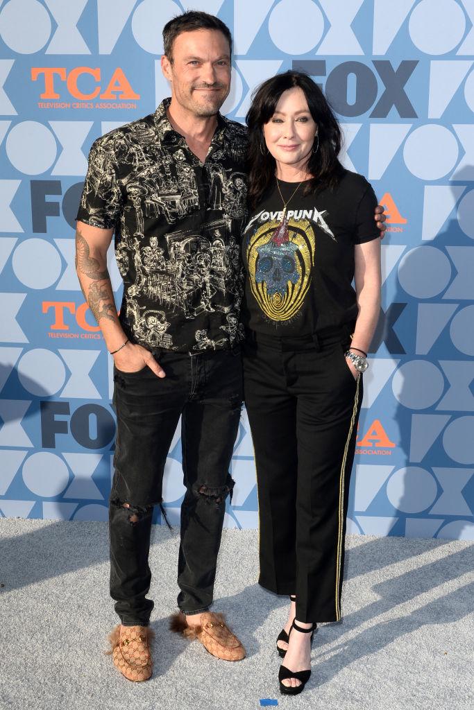Shannon Doherty a Beverly Hills 90210 sorozat újraindításának premierjén