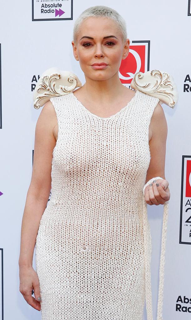 Rose McGowan a Q Awards átadóján 2019-ben