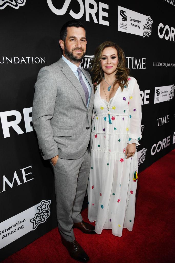 Alyssa Milano , és férje, Dave Bugliari 2020-ban, Los Angelesben