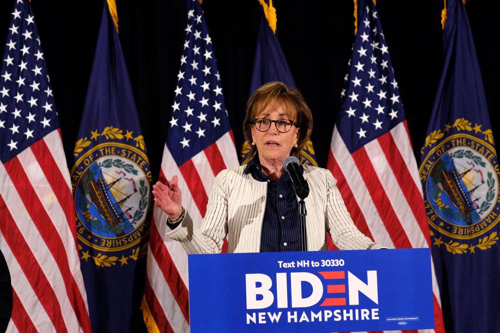 Valerie Biden Owens helyetesítette fivérét egy New Hampshire-i kampányrendezvényen 2020 februárjában.