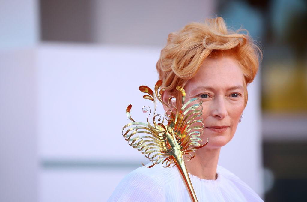 Tilda Swinton a 77. Velencei Filmfesztiválon.