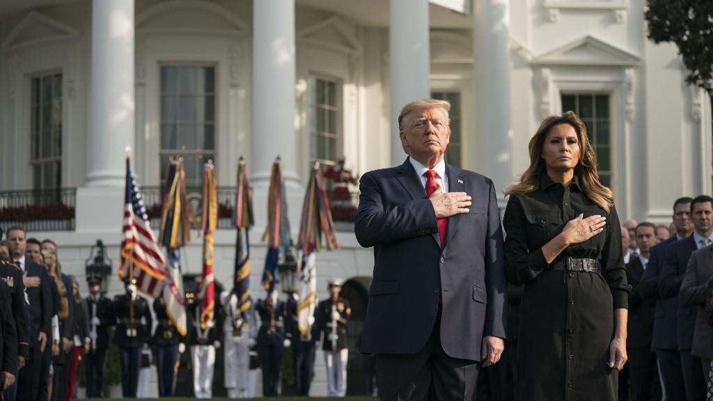 Az elnöki házaspár 2019. szeptember 11-én (fotó: Sarah Silbiger/Bloomberg via Getty Images)