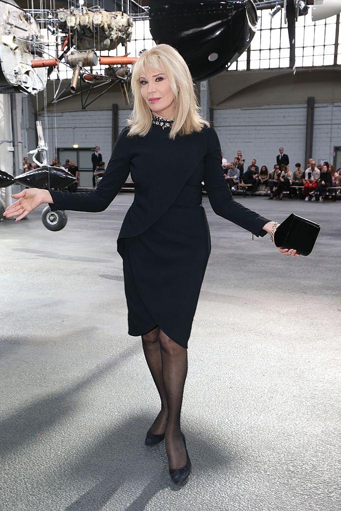 A Givenchy divatbemutatóján, 2015-ben