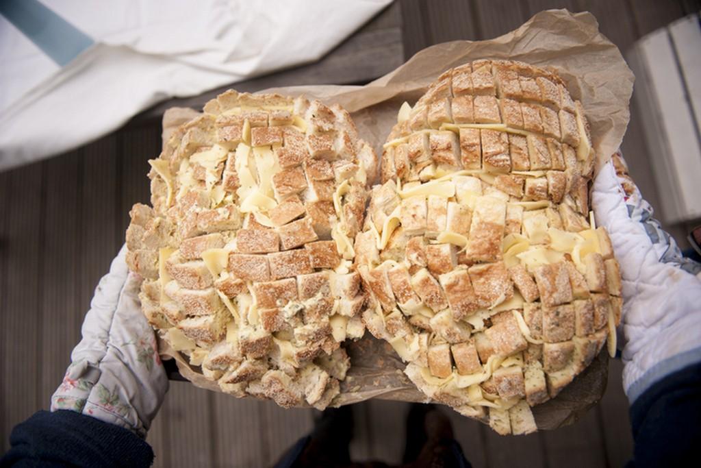 Csirkés töltött kenyér