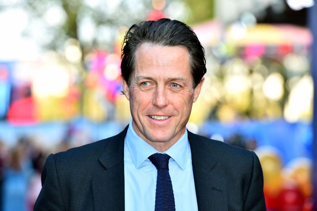 Hugh Grant a második Paddington film bemutatóján London.