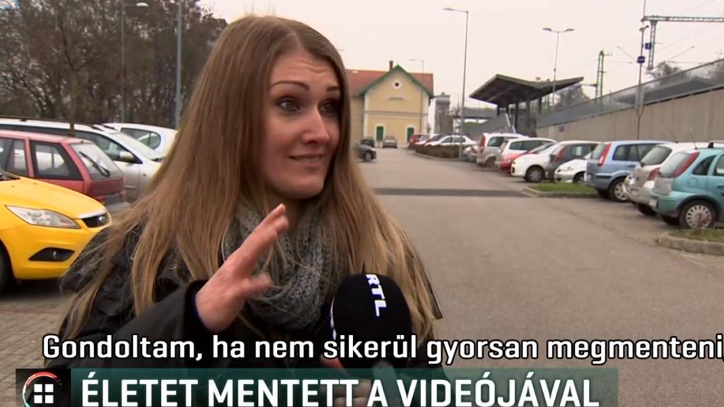 idős asszonyt mentett videójával a hallásérült Bettina