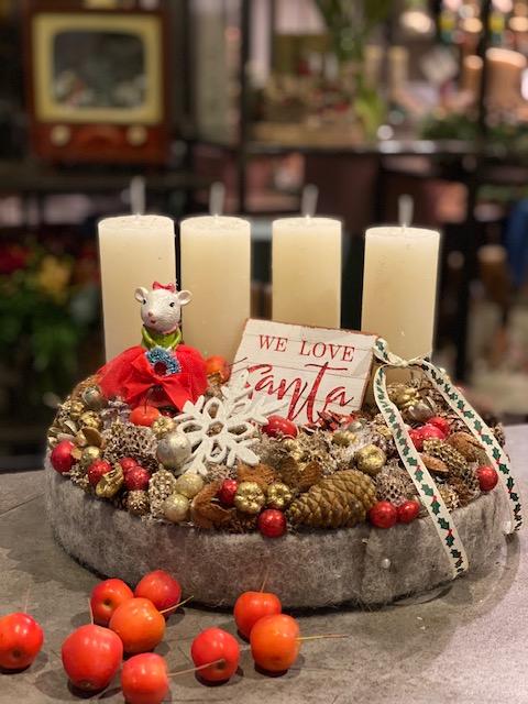 Modern karácsonyi dekoráció