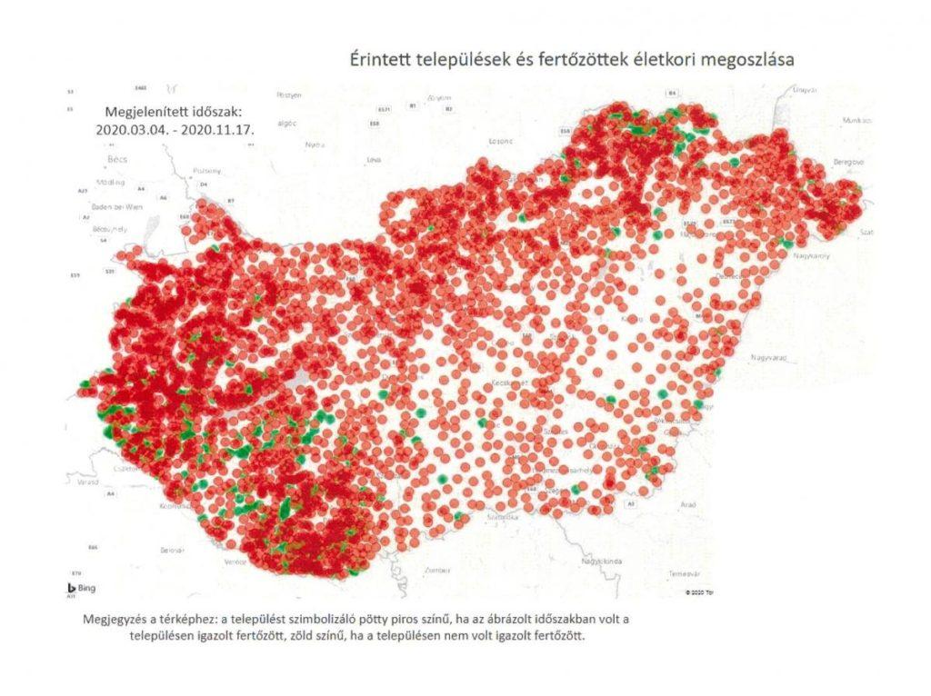 Koronavírus-térkép