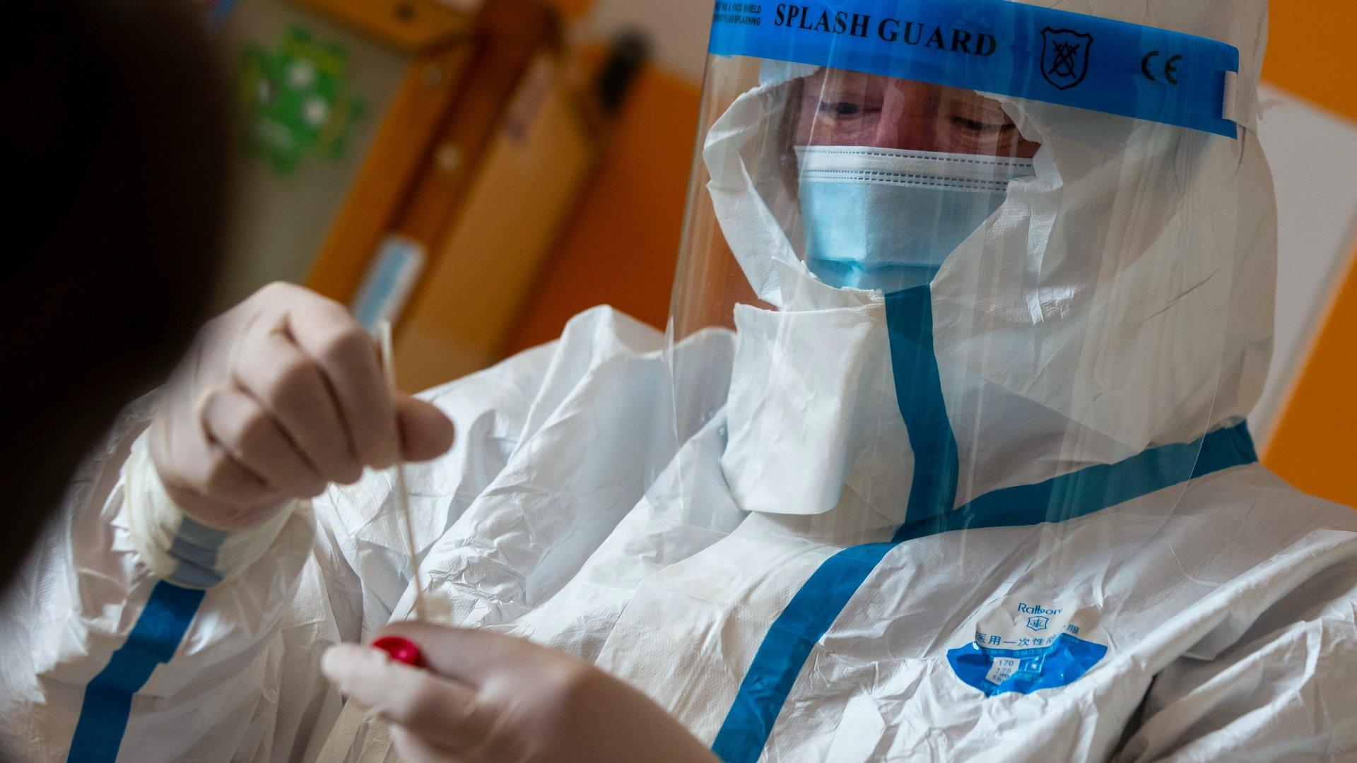 Koronavírus-teszt