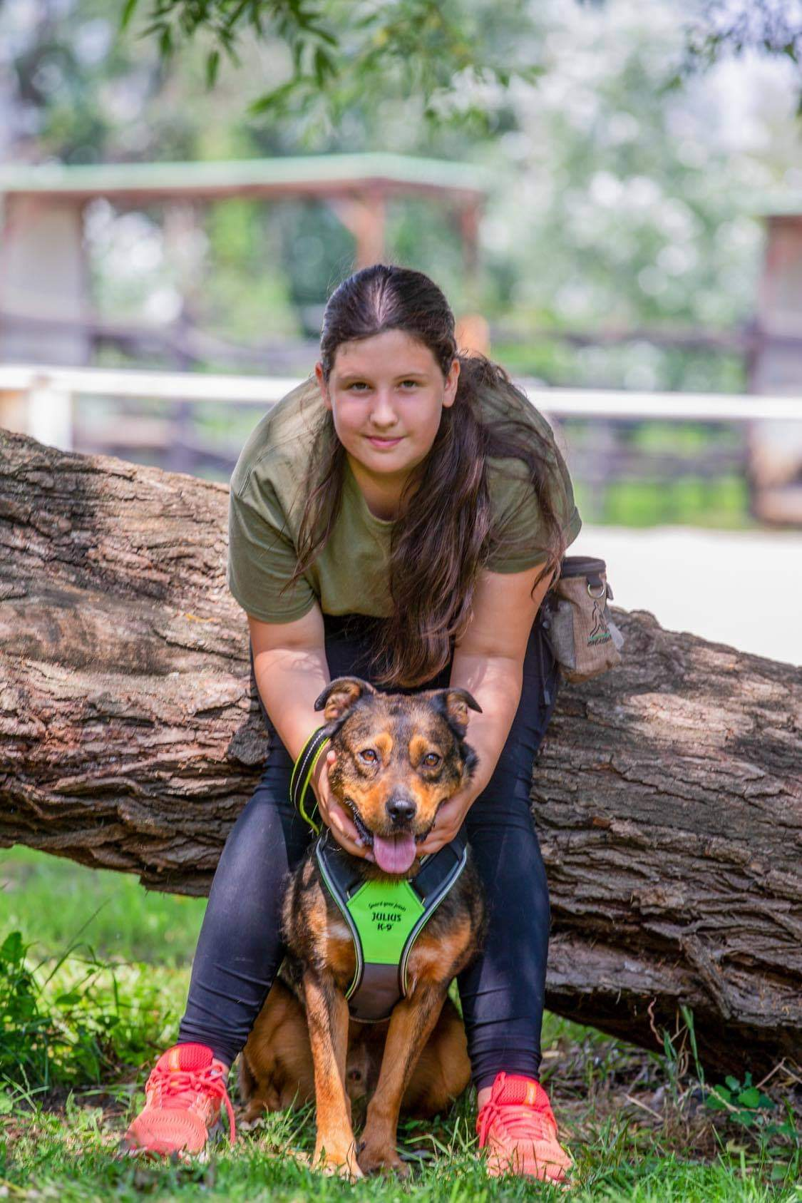 Vasas Csenge és az Ebárvaház egyik kutyája