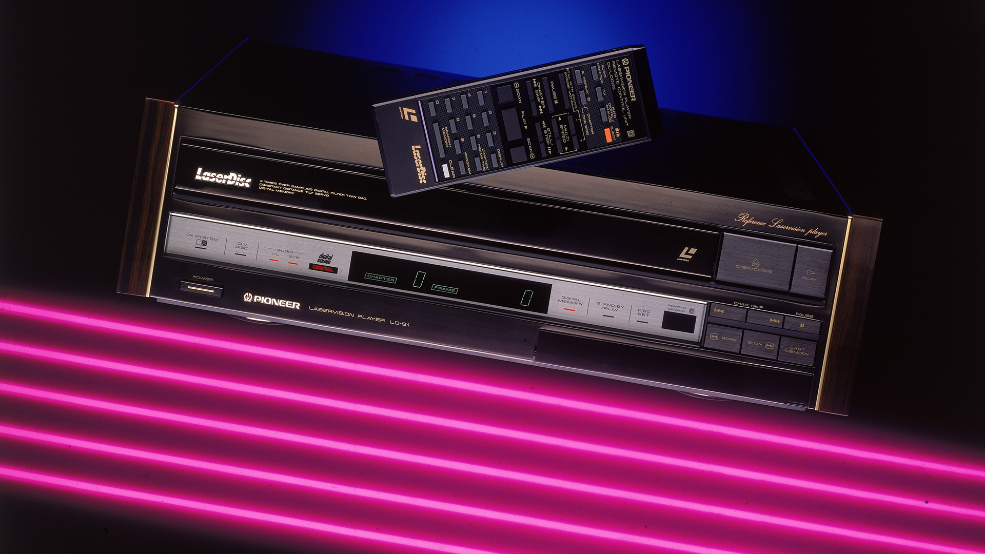 Pioneer LaserDisc-lejátszó a 80-as évekből