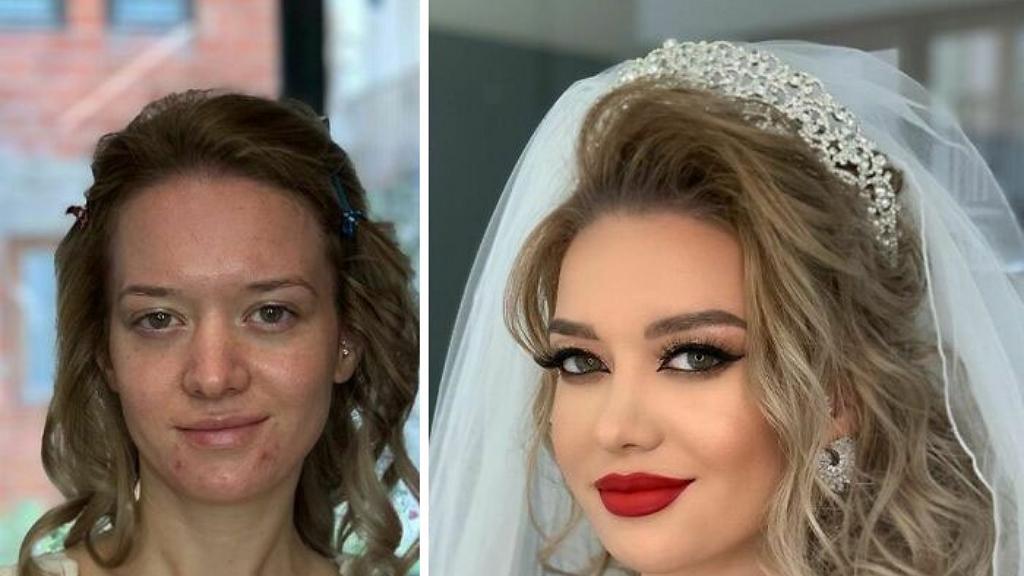 Csodaszép előtte-utána menyasszonyi fotók