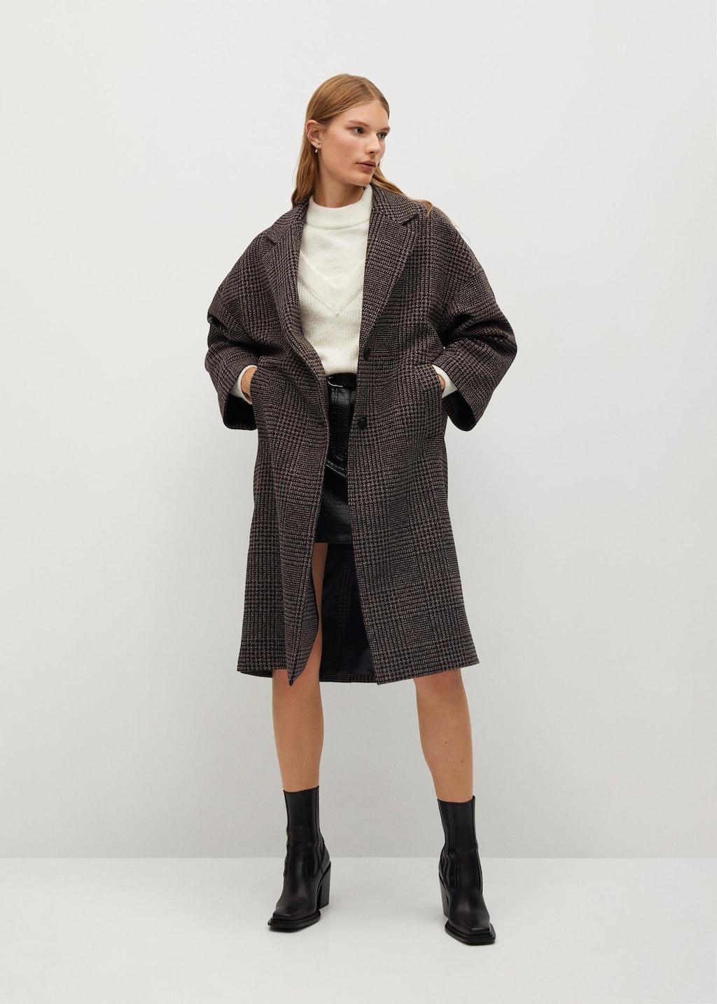 Kockás kabát
