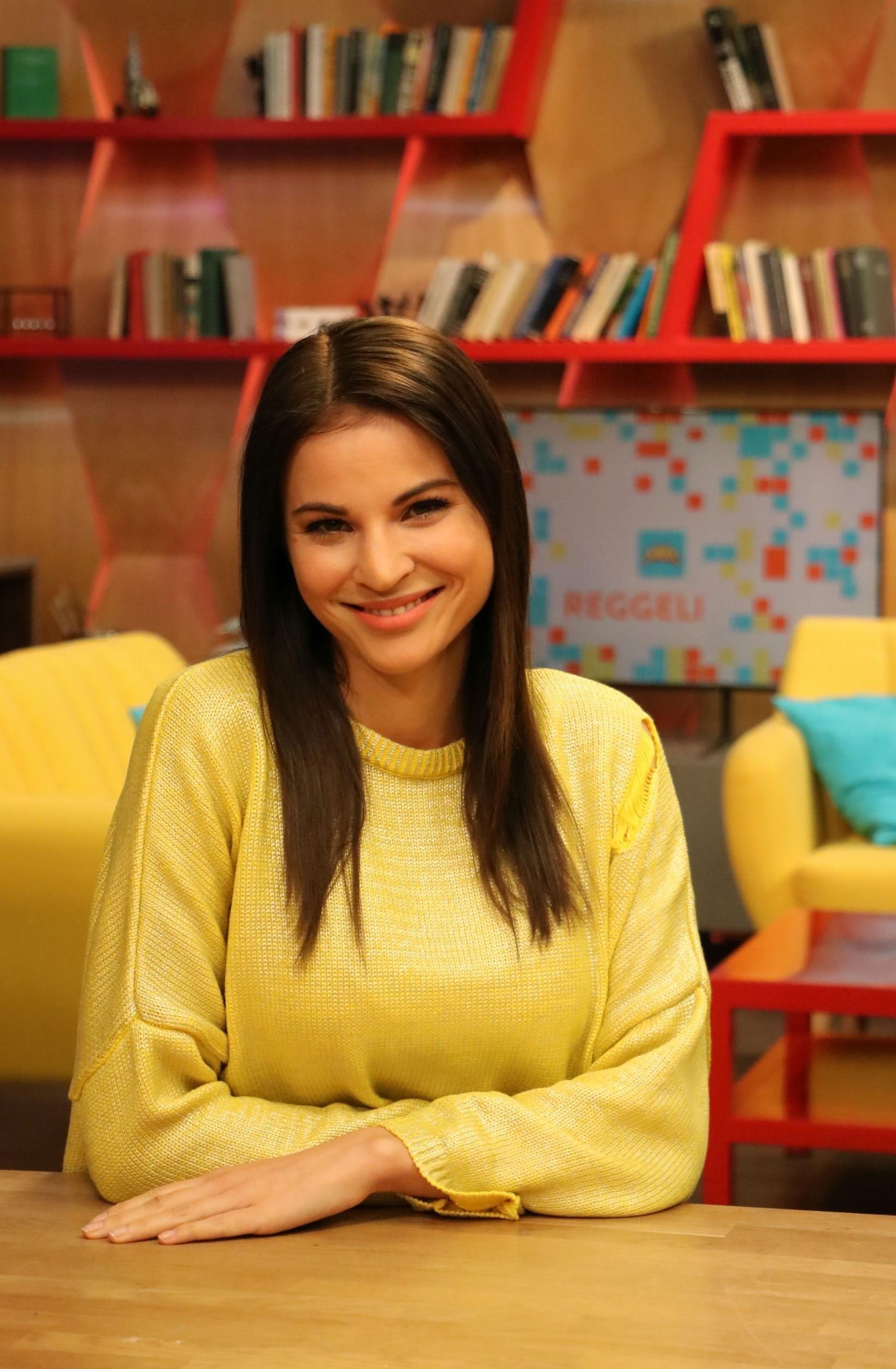 Nádai Anikó a Reggeliben (Fotó: RTL Klub)