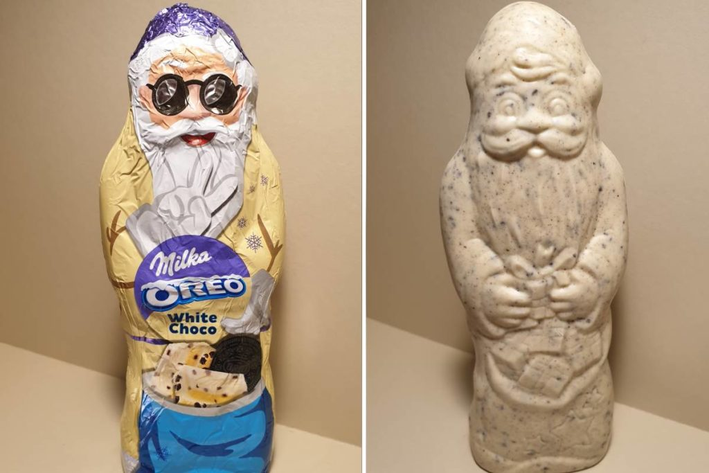 Milka Oreo fehércsokoládés mikulás