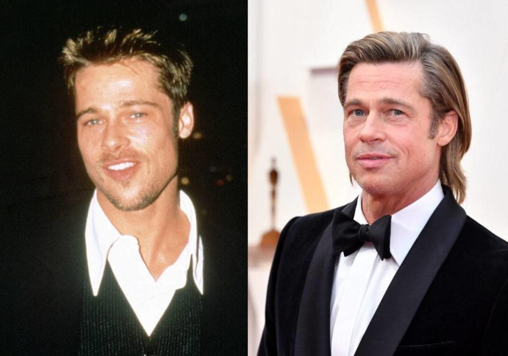 Brad Pitt akkor és most