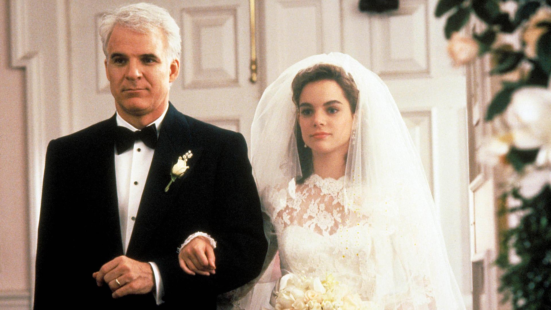 Steve Martin és Kimberly Williams-Paisley az Örömapa című filmben