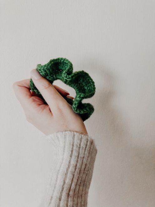 Látványos zöld hajgumi