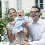 A svéd hercegi család a Haga palotában